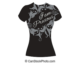 abstract i am precious tshirt