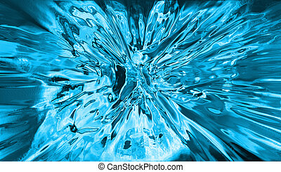 abstract ice background generated by the computer