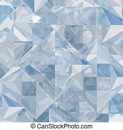 Abstract ice geometric background