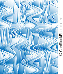 Abstract Ice Glass Pattern
