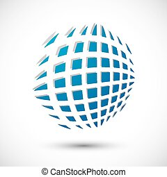 Abstract icon, 3d vector symbol