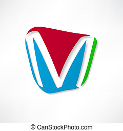 Abstract icon based on the letter M