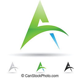 Abstract icon for letter A - Vector illustration of abstract...