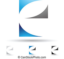 Abstract icon for letter E - Vector illustration of abstract...