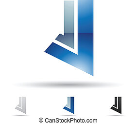 Abstract icon for letter J - Vector illustration of abstract...