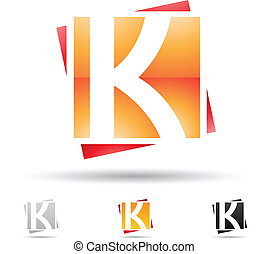 Abstract icon for letter K - Vector illustration of abstract...