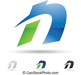 Abstract icon for letter N
