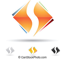 Abstract icon for letter S - Vector illustration of abstract...