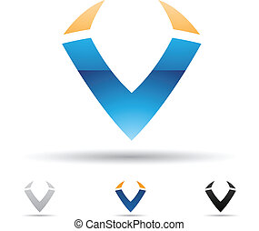 Abstract icon for letter V