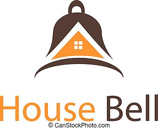 Abstract icon house in bell. Vector