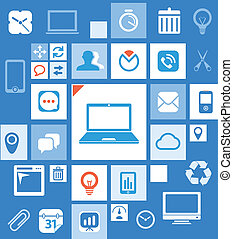 Abstract icon interface template