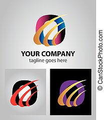 Abstract icon logo for letter O