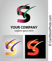 Abstract icon logo for letter S