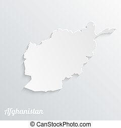 Abstract icon map of Afghanistan on a gray background
