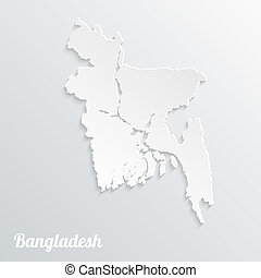 Abstract icon map of Bangladesh on a gray background
