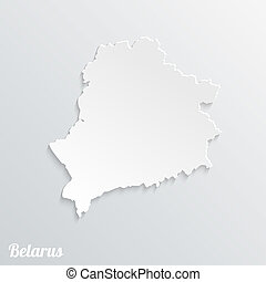 Abstract icon map of Belarus on a gray background