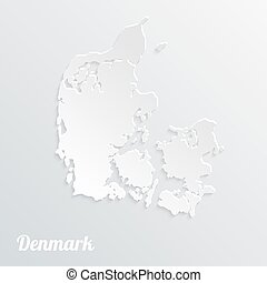 Abstract icon map of Denmark, on a gray background
