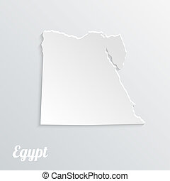 Abstract icon map of Egypt on a gray background