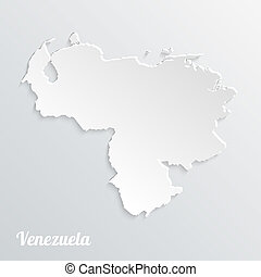 Abstract icon map of Venezuela on a gray background