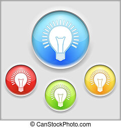 Abstract icon of a bulb