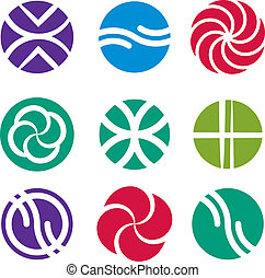Abstract icon set, vector symbols collection.