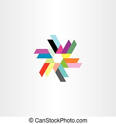 abstract icon technology symbol logo colorful element vector