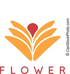 abstract icon vector design template of flower