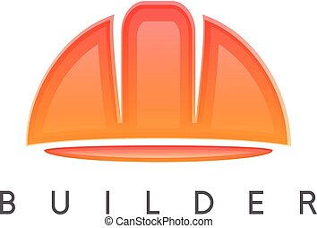 abstract icon vector design template of worker helmet