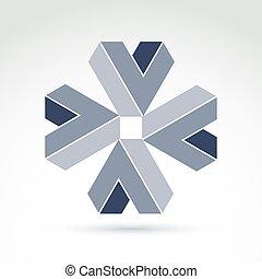 Abstract icon, vector symbol,