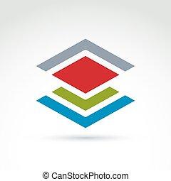 Abstract icon, vector symbol