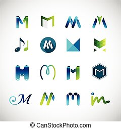 Abstract icons based on the letter