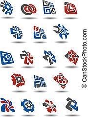 Abstract icons, symbols and logos