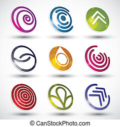 Abstract icons vector set.