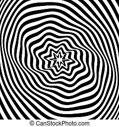 Abstract illusion texture. Op art.