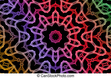 Abstract illustrated powerful and decorative background...