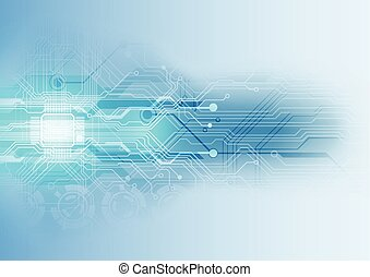 abstract, illustratie, achtergrond, vector, plank, circuit, technologie