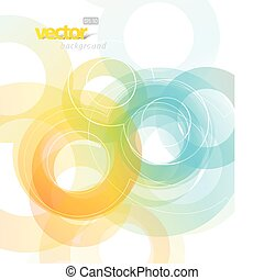 abstract, illustratie, met, circles.