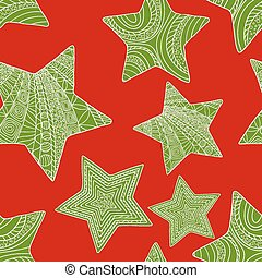 abstract, illustratie, stars., vector, achtergrond, kerstmis