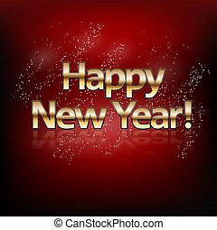 abstract, illustratie, vector, jaar, nieuw, vrolijke