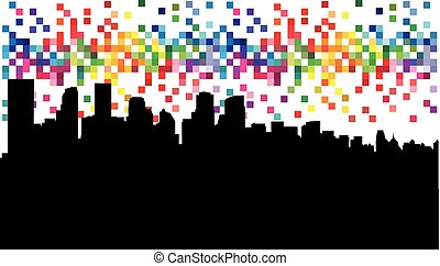 Abstract illustration - city.