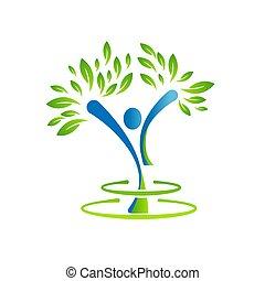 Abstract illustration design people tree symbol