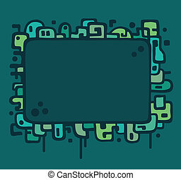 Abstract illustration frame