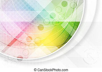 Abstract illustration in rainbow colors.