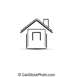 Abstract illustration of a house icon vector