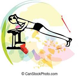 Beautiful sporty fit woman