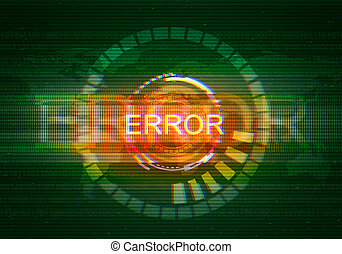 Abstract illustration of distorted display screen