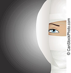 Face plastic reconstruction - Abstract illustration of Face ...