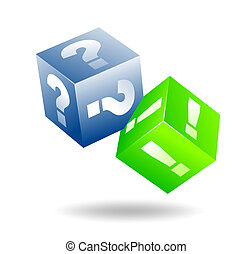 cubes - abstract illustration of floating cubes with...
