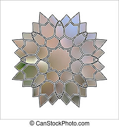 Abstract illustration of flower crystal