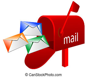 Abstract illustration of mailbox